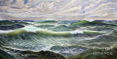 Turbulent Skies Painting - Wild Sea by Georgios Kollidas
