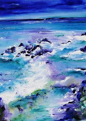 Splish Splash Painting - Wild Seascape by Mary Cahalan Lee- aka PIXI