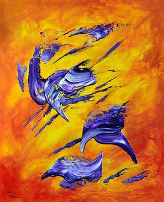 Orange Painting - Wild Sensation by Thierry Vobmann
