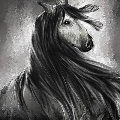 Wild Soul- Fine Art Horse Artwork Art Print by Lourry Legarde