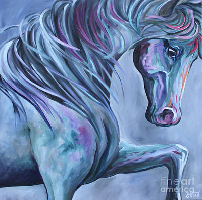 Painting - Wild Stallion Abstract by Debbie Hart