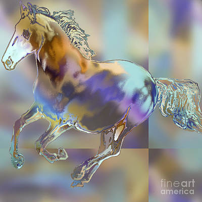 Painting - Wild Stallion by Ursula Freer