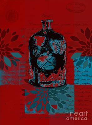 Digital Art - Wild Still Life - 0101a - Red by Variance Collections