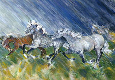 Wild Storm Art Print by Mary Armstrong