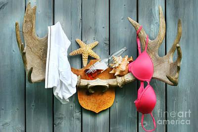 Bathe Digital Art - Wild Summer Cottage Weekend by Sandra Cunningham