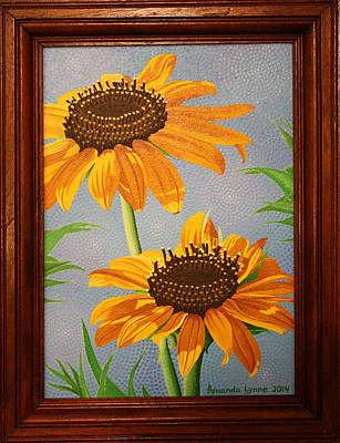 Painting - Wild Sunflower Duet by Amanda  Lynne