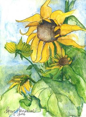 Wild Sunflowers Original by Sherry Harradence