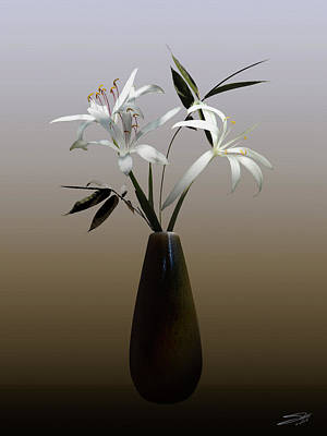Photograph - Wild Swamp Lily In Vase by IM Spadecaller