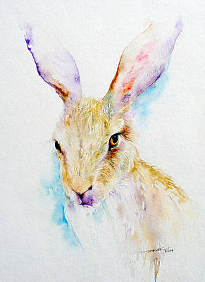 Brown Hare Painting - Wild Thing _brown Hare Portrait by Arti Chauhan
