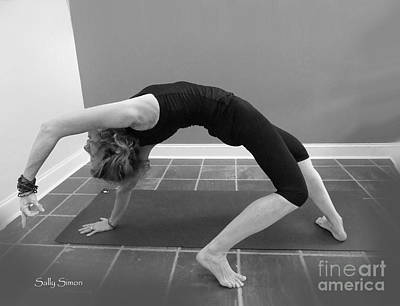 Photograph - Wild Thing Yoga Pose In Black And White by Sally Simon
