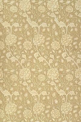 Wild Tulip Wallpaper Design Art Print by William Morris