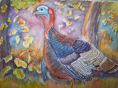 Painting - Wild Turkey In The Brush by Belinda Lawson