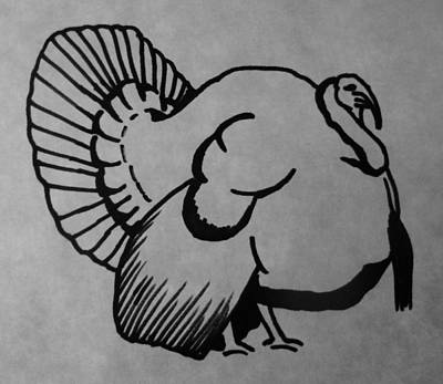 Wild Turkey Drawing - Wild Turkey by Joann Renner