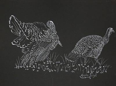 Wild Turkey Drawing - Wild Turkey by Kendra DeBerry