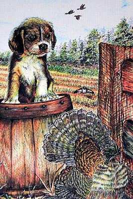 Wild Turkey Art Print by Martin Way
