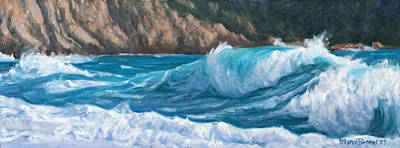 Painting - Wild Waves by Marco Busoni