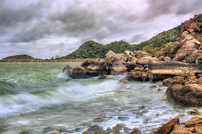 Wild Weather On Lake Altus - Oklahoma - Quartz Mountains Art Print