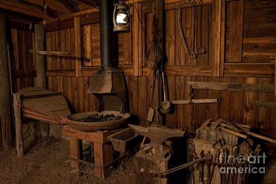 Industrial Age Photograph - Wild West Blacksmith by Keith Kapple