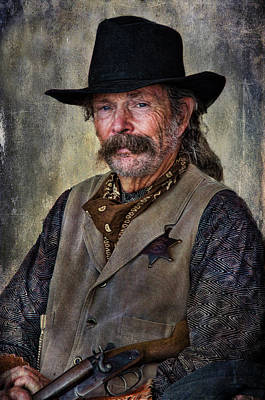 Photograph - Wild West Cowboy by Barbara Manis