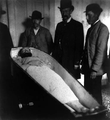 1880s Portaits Photograph - Wild West. Jesse James, Dead by Everett