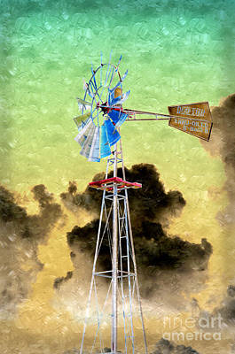 Photograph - Wild West Windmill by Andee Design