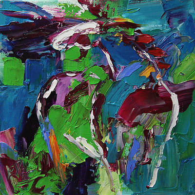 Painting - Wild Wind Horse 17 Out Of 100 2014 by Laurie Pace