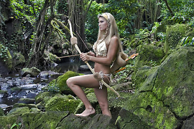 Warrior Goddess Photograph - Wild Woman 4 by Don Ewing