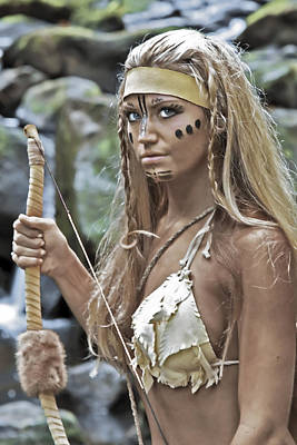 Warrior Goddess Photograph - Wild Woman 1 by Don Ewing