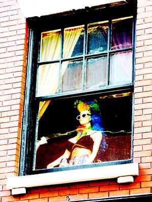 Wild Woman In Window Art Print by Randi Kuhne