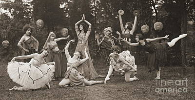 Wild Woman Photograph - Wild Women Dance 1924 by Padre Art