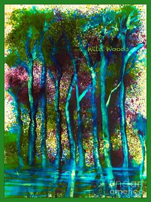 Painting - Wild Woods by Joan-Violet Stretch