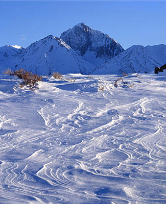 Photograph - 3m6394-v-wildblown Snow And Mt. Morrison V  by Ed  Cooper Photography
