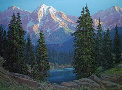 Randy Painting - Wilderness Light by Randy Follis