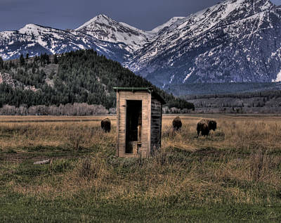 Wilderness Outhouse Art Print by CR  Courson
