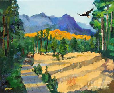 Sawtooth Mountain Art Painting -  Sawtooth Wilderness  by Bernard Marks