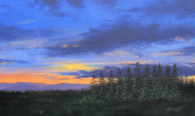 Painting - Wilderness Sunset by Gene Foust