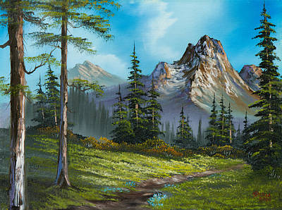 Sawtooth Mountain Art Painting - Wilderness Trail by C Steele