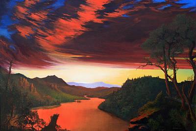 Robert Duvall Painting - Wilderness Twilight by Robert Duvall