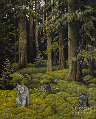 Animals Paintings - Wilderness by Veikko Suikkanen