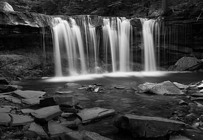 White River Scene Photograph - Wilderness Waterfall Rocky Pool by John Stephens
