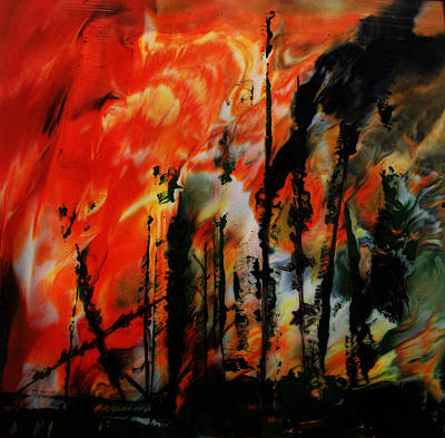 Fernley Painting - Wildfire 8 by Chad Rice