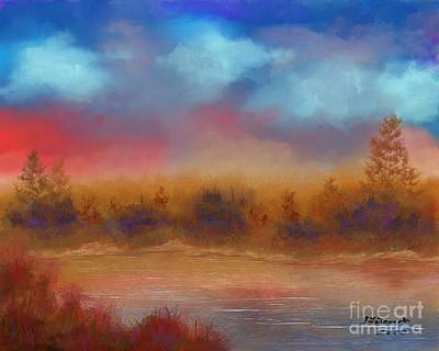 Painting - Wildfire Fire In The Sky by Judy Filarecki