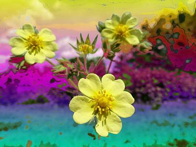 Digital Art - Wildflower Abstract by Mike Breau