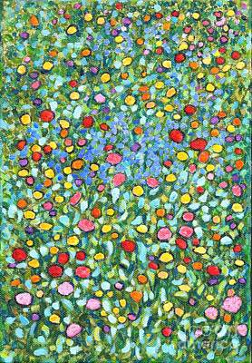 Painting - Wildflowers Scattered In My Jewel Box by Jingfen Hwu