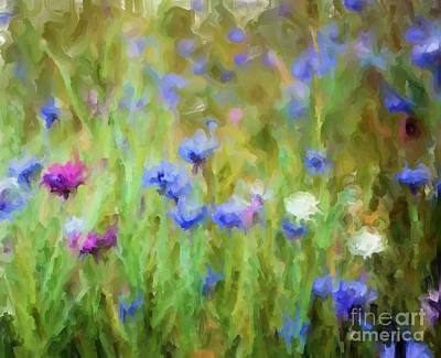 Digital Art - Wildflower Fields by Ruby Cross
