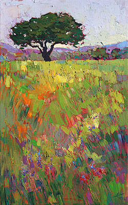 Print featuring the painting Wildflower Hill by Erin Hanson