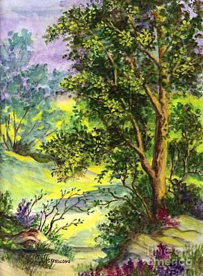 Wildflower Meadow Original by Carol Wisniewski