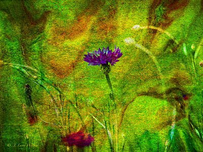 Print featuring the digital art Wildflower Pettifoggery by J Larry Walker