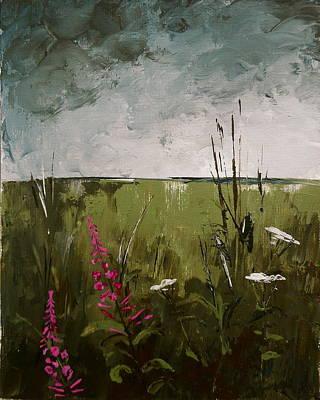 Fireweed Painting - Wildflower Storm by Carolyn Doe