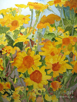 Painting - Wildflower Volunteers by Sandy McIntire